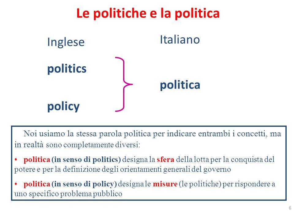Le politiche e la politica