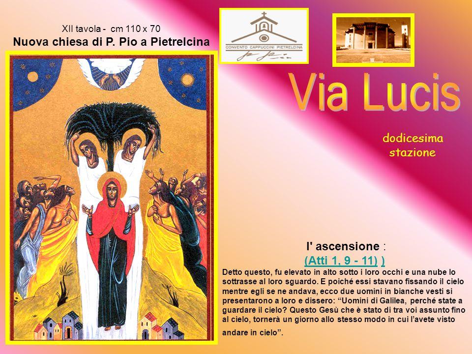 XII tavola - cm 110 x 70 Nuova chiesa di P. Pio a Pietrelcina