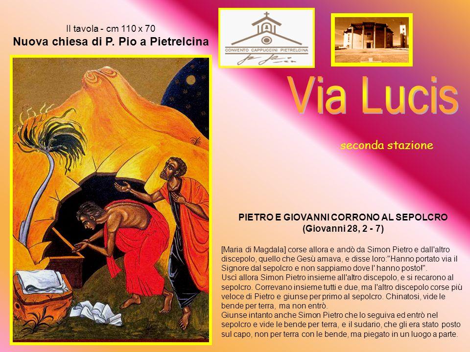 PIETRO E GIOVANNI CORRONO AL SEPOLCRO (Giovanni 28, 2 - 7)