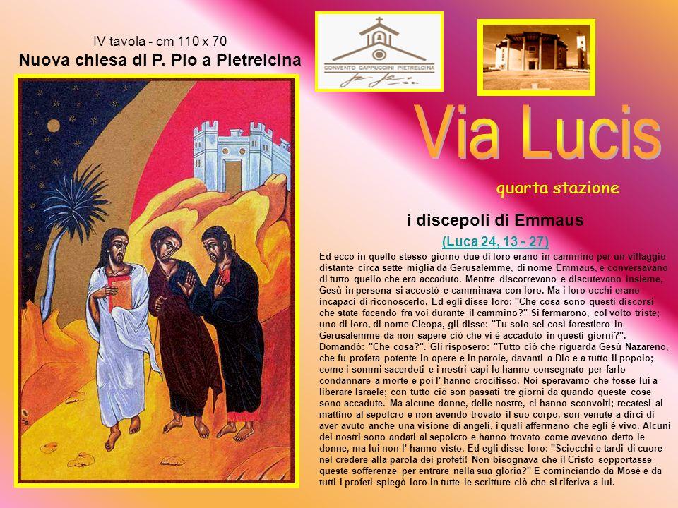 Via Lucis quarta stazione i discepoli di Emmaus (Luca 24, 13 - 27)