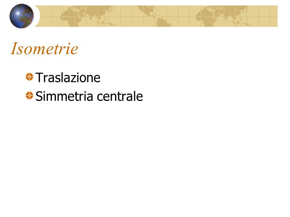 Isometrie Traslazione Simmetria centrale
