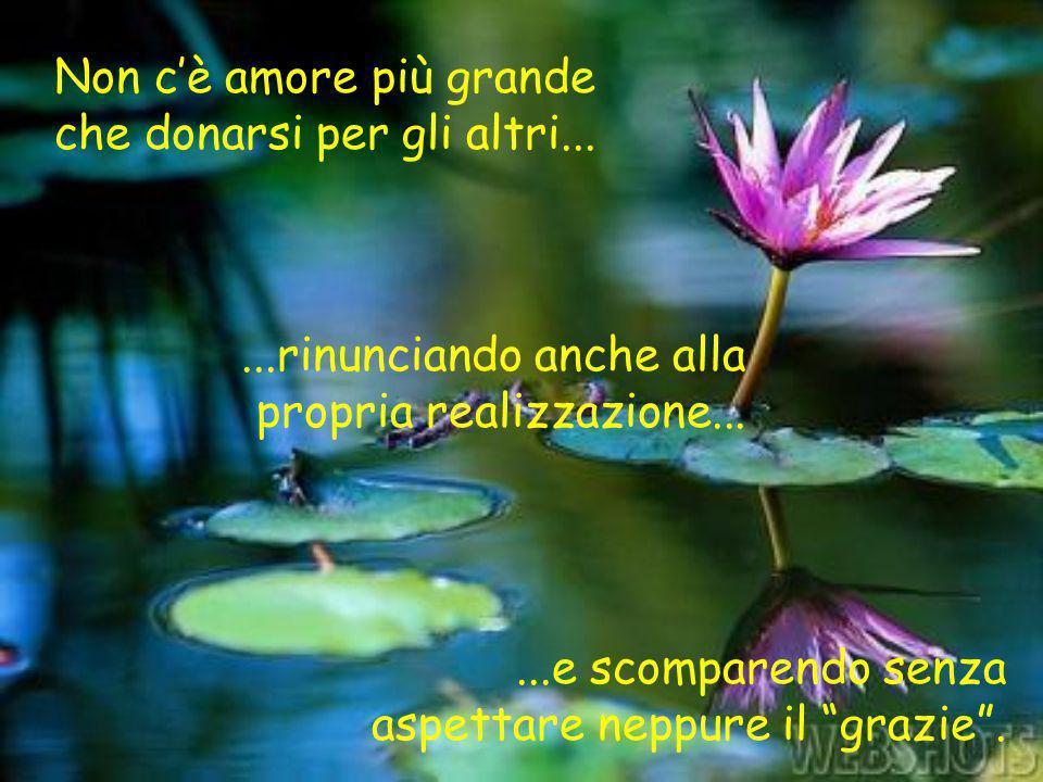 Non c'è amore più grande che donarsi per gli altri...