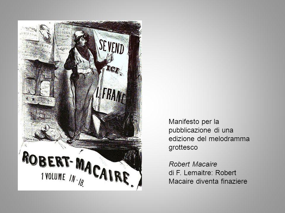 Manifesto per la pubblicazione di una edizione del melodramma grottesco