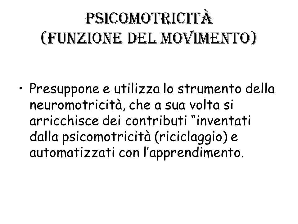 Psicomotricità (funzione del movimento)