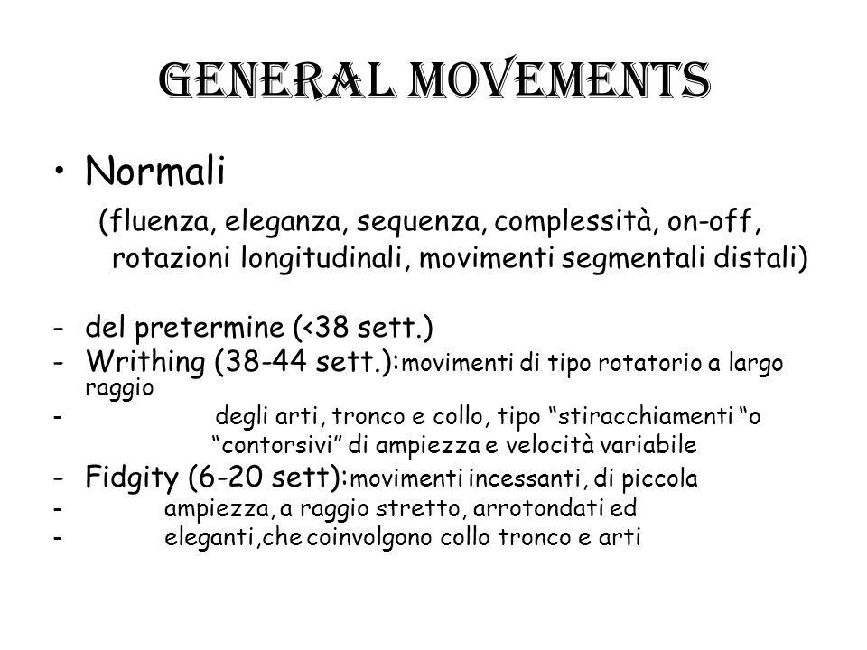 General movements Normali