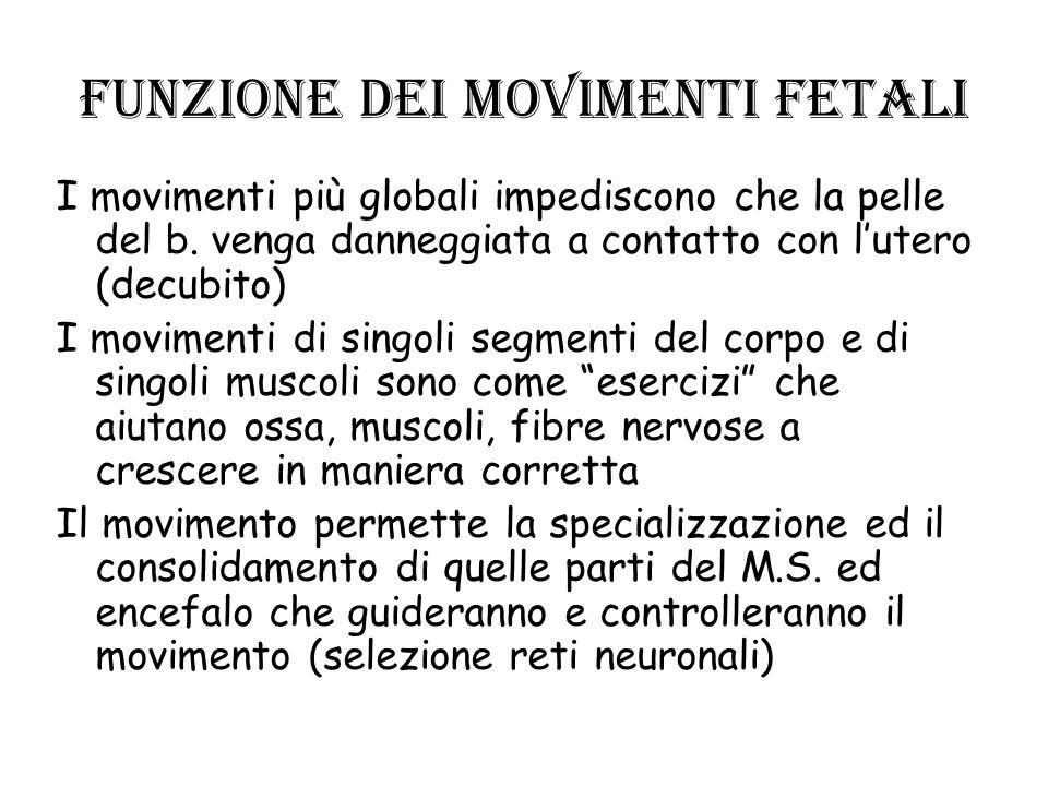 Funzione dei movimenti fetali