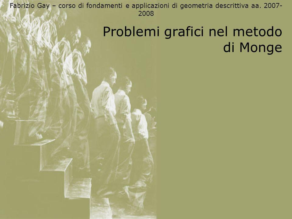 Problemi grafici nel metodo di Monge