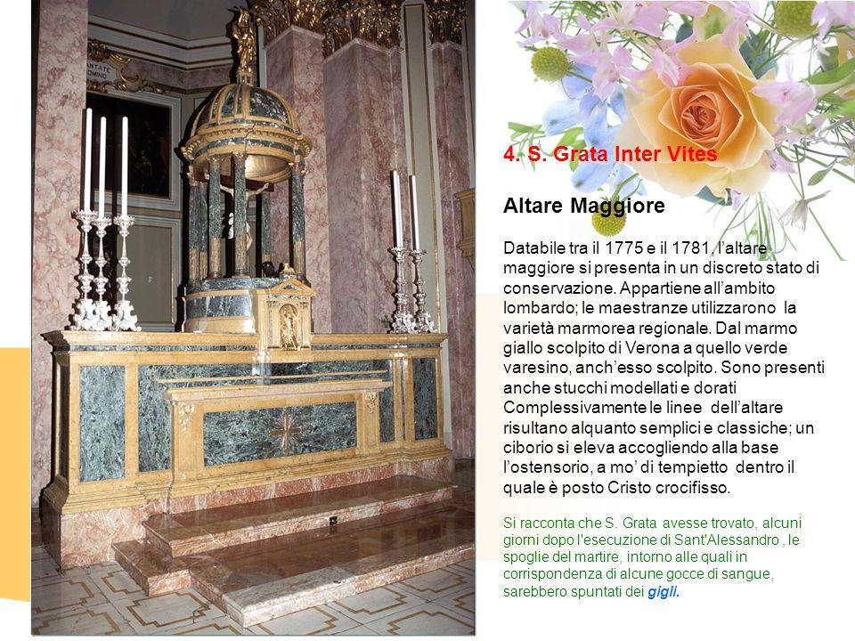 4. S. Grata Inter Vites Altare Maggiore