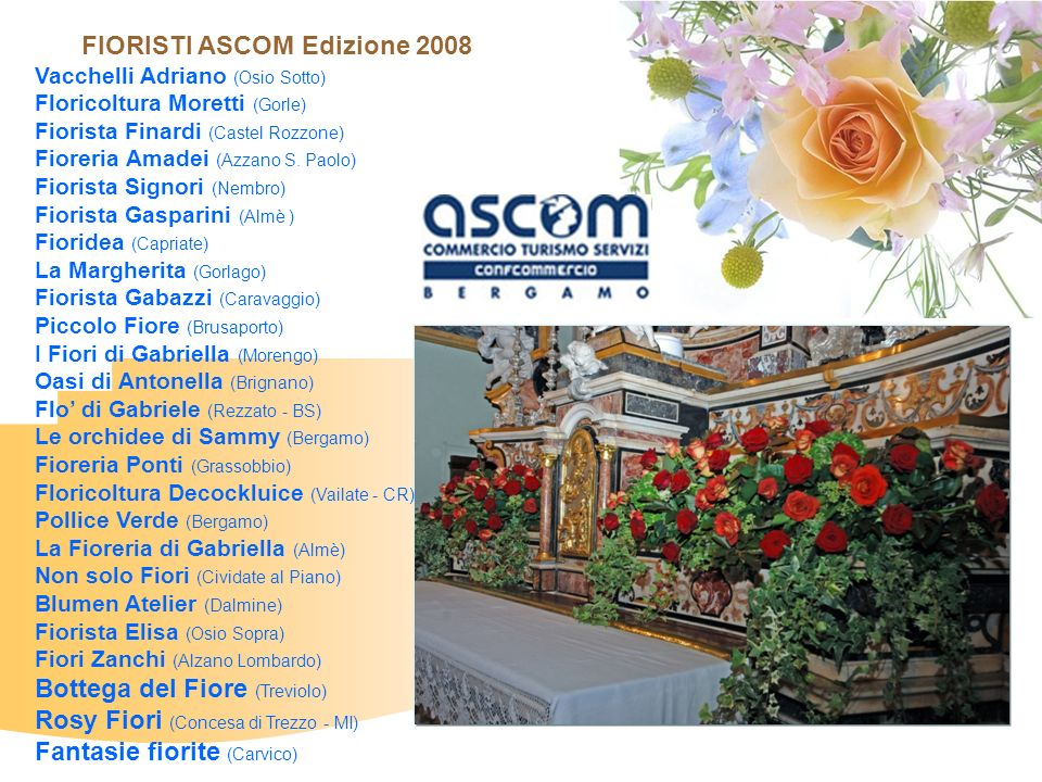 FIORISTI ASCOM Edizione 2008