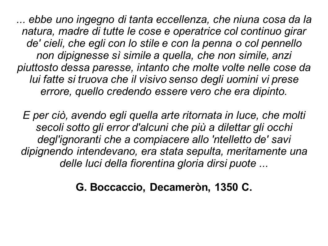 G. Boccaccio, Decameròn, 1350 C.
