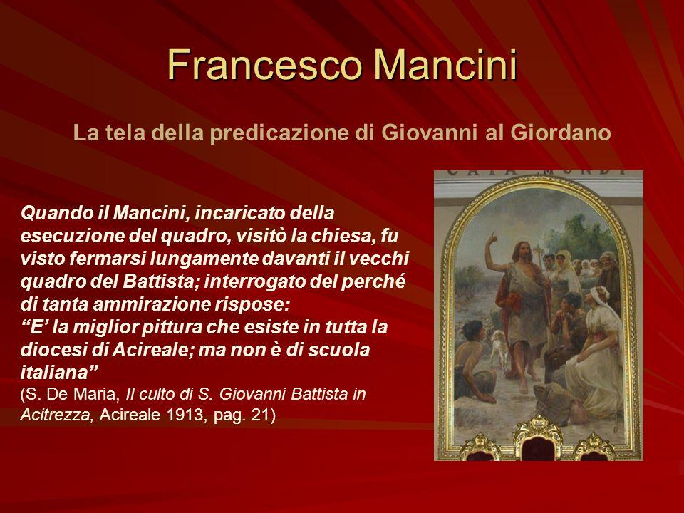 La tela della predicazione di Giovanni al Giordano