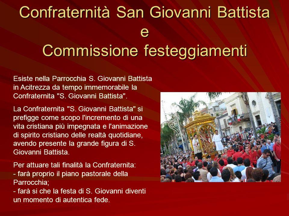 Confraternità San Giovanni Battista e Commissione festeggiamenti