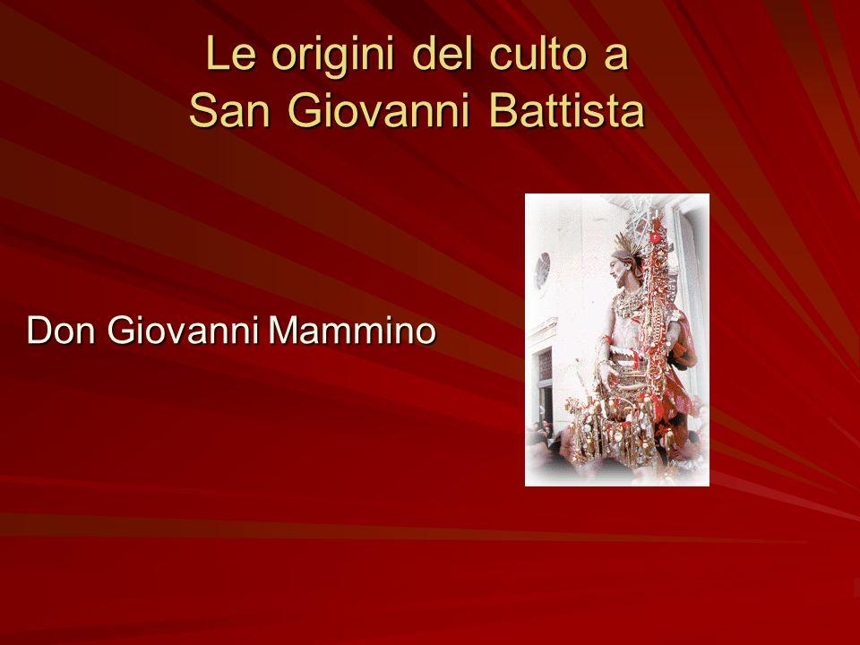 Le origini del culto a San Giovanni Battista
