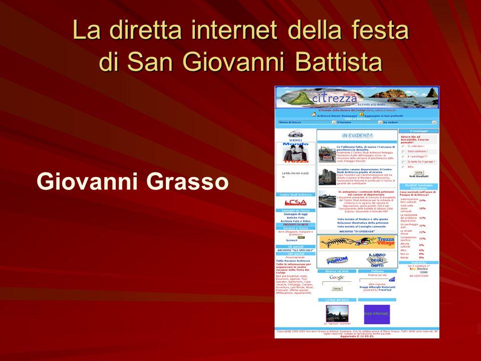 La diretta internet della festa di San Giovanni Battista