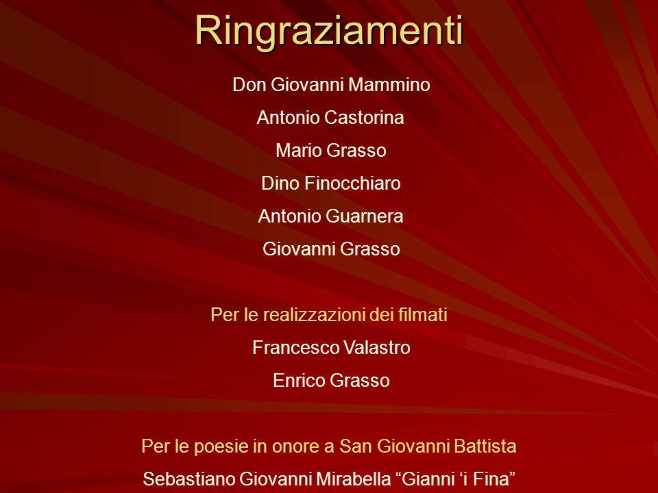 Ringraziamenti Antonio Castorina Mario Grasso Dino Finocchiaro