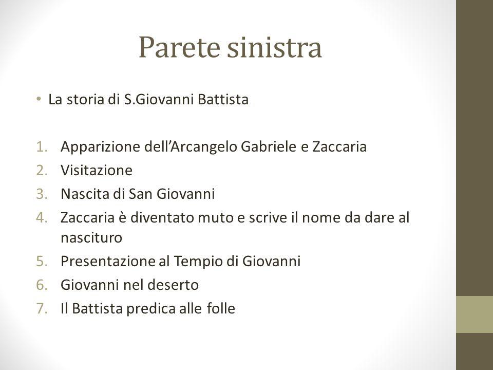 Parete sinistra La storia di S.Giovanni Battista
