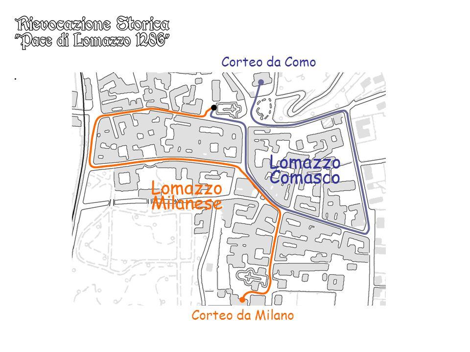 Corteo da Como . Lomazzo Comasco Lomazzo Milanese Corteo da Milano