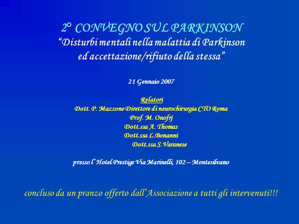 2° CONVEGNO SUL PARKINSON
