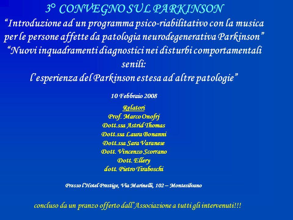 3° CONVEGNO SUL PARKINSON