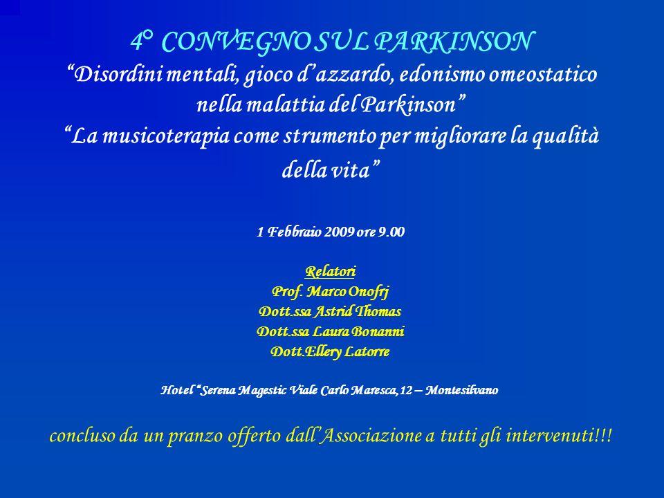 4° CONVEGNO SUL PARKINSON