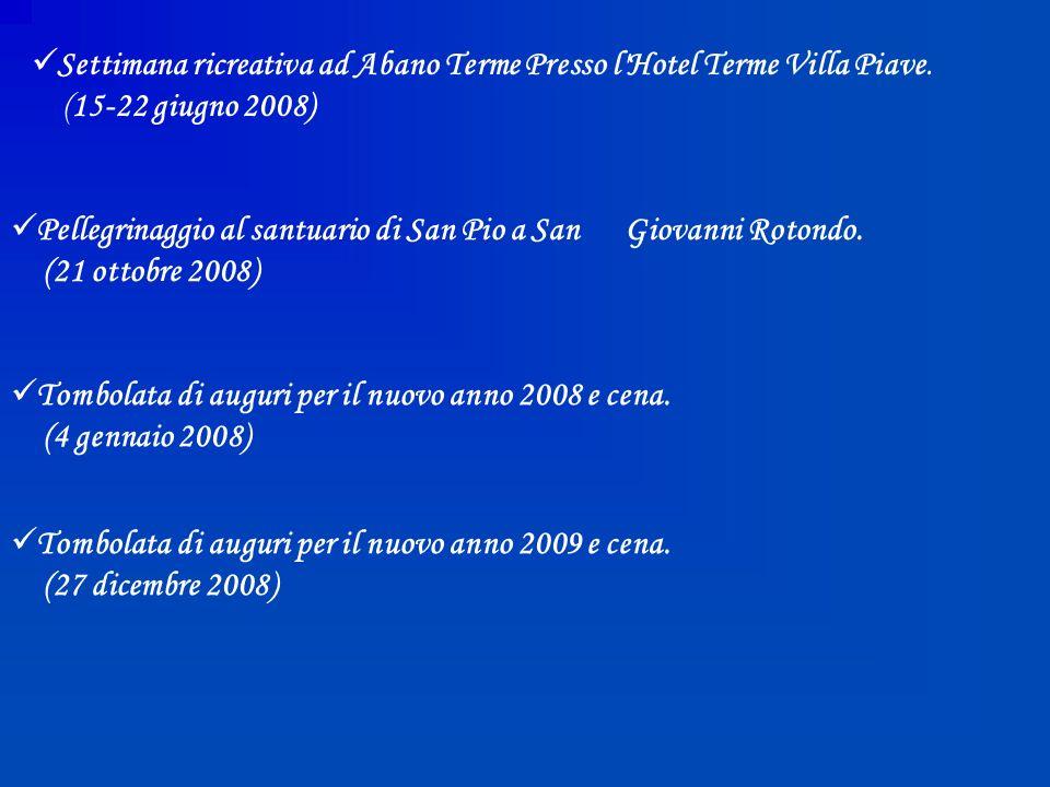 Settimana ricreativa ad Abano Terme Presso l Hotel Terme Villa Piave.