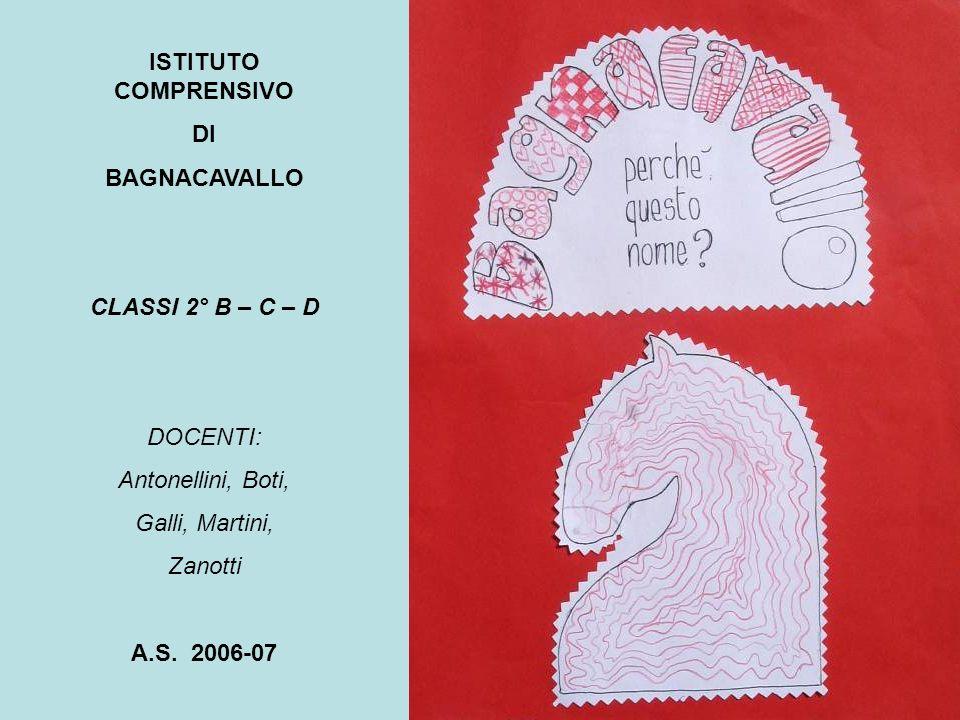 ISTITUTO COMPRENSIVO DI. BAGNACAVALLO. CLASSI 2° B – C – D. DOCENTI: Antonellini, Boti, Galli, Martini,