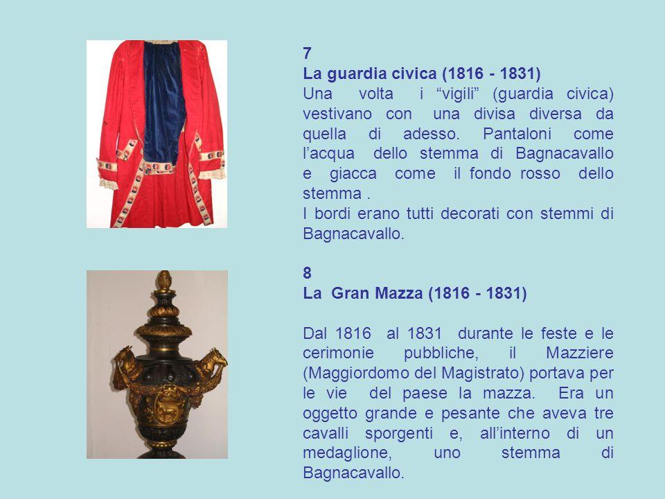 7 La guardia civica (1816 - 1831)