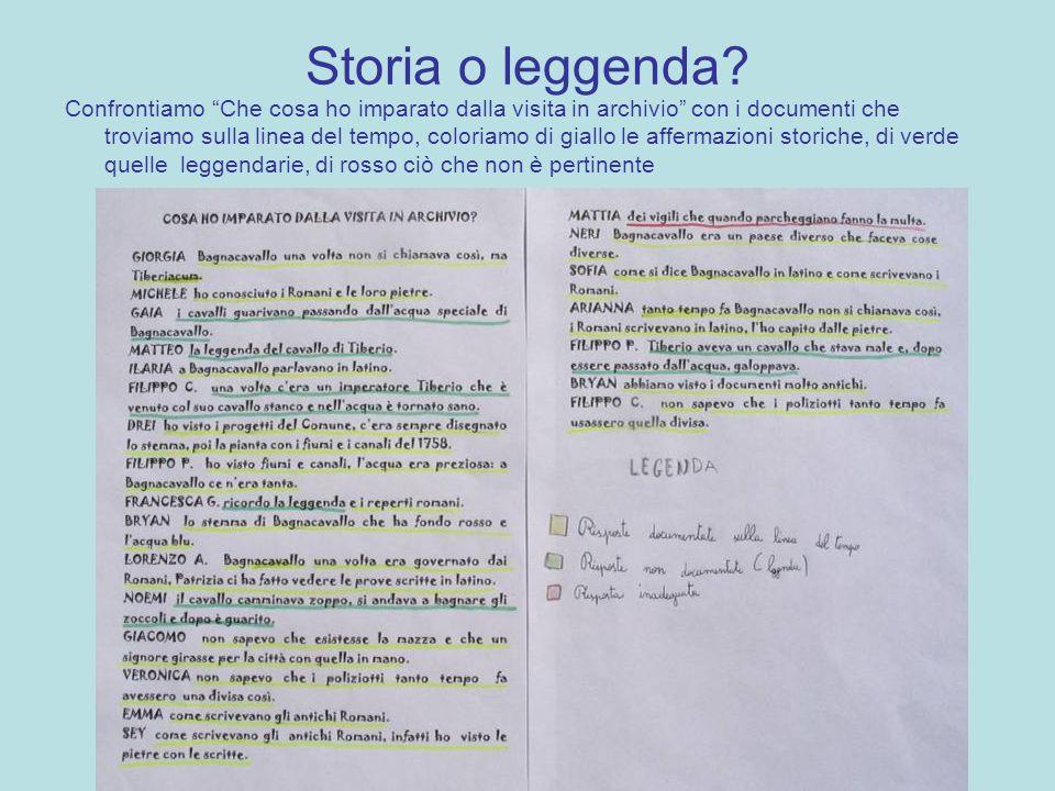 Storia o leggenda