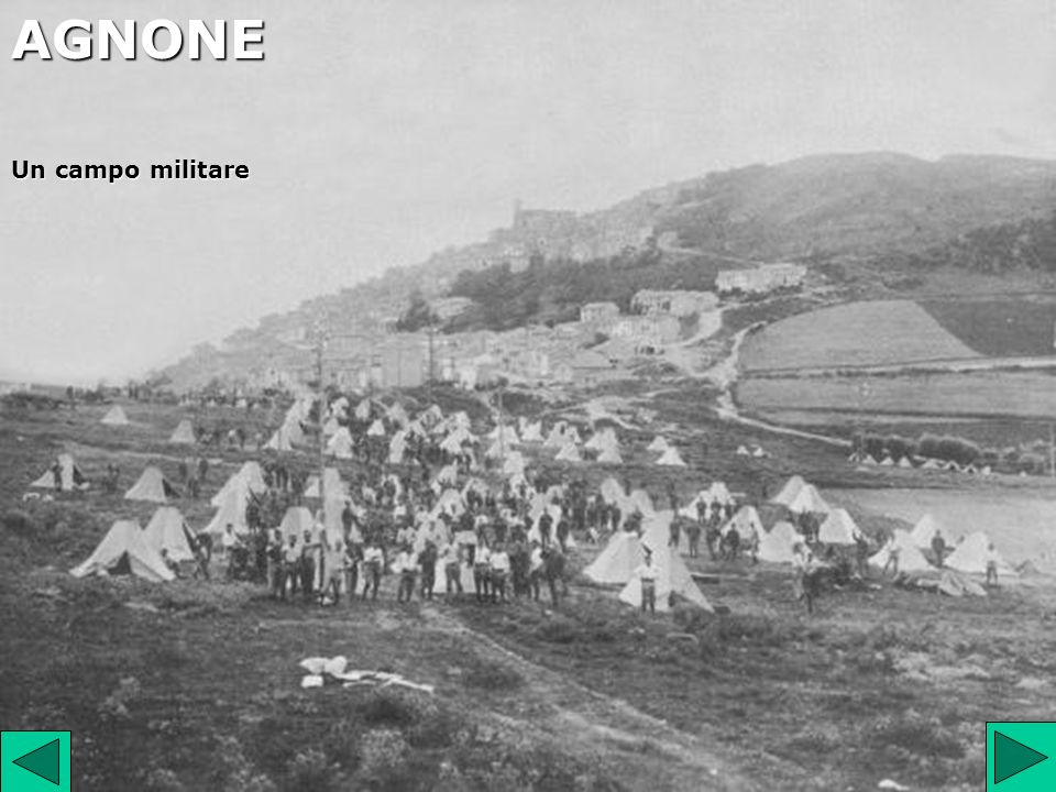 AGNONE Un campo militare