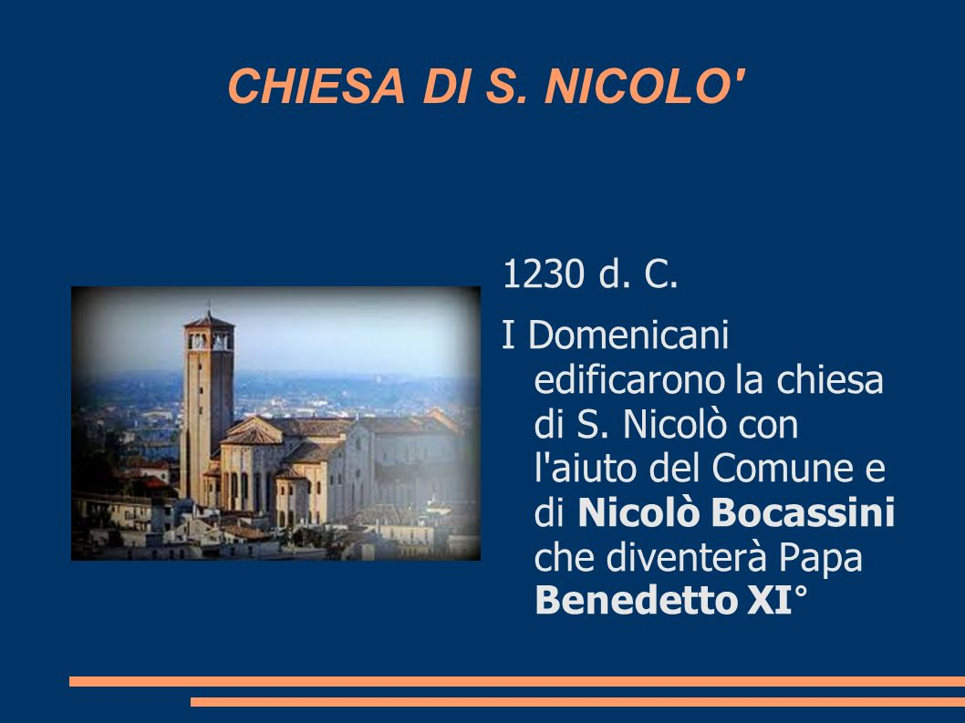 CHIESA DI S. NICOLO 1230 d. C.