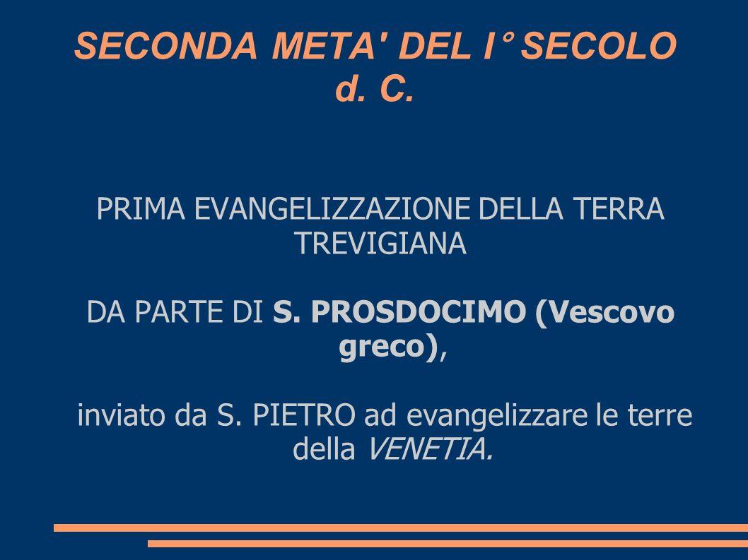 SECONDA META DEL I° SECOLO d. C.