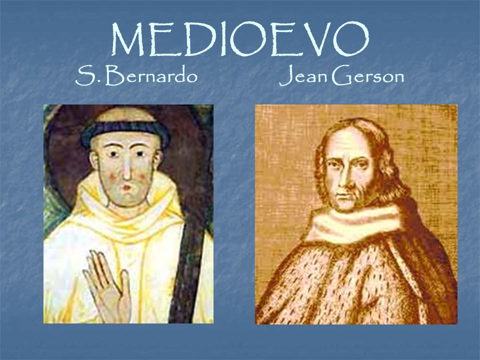MEDIOEVO S. Bernardo Jean Gerson