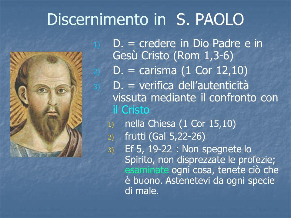 Discernimento in S. PAOLO