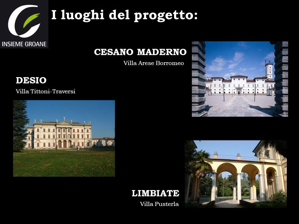 I luoghi del progetto: CESANO MADERNO DESIO LIMBIATE