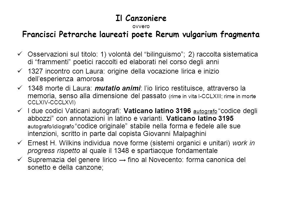 Il Canzoniere ovvero Francisci Petrarche laureati poete Rerum vulgarium fragmenta