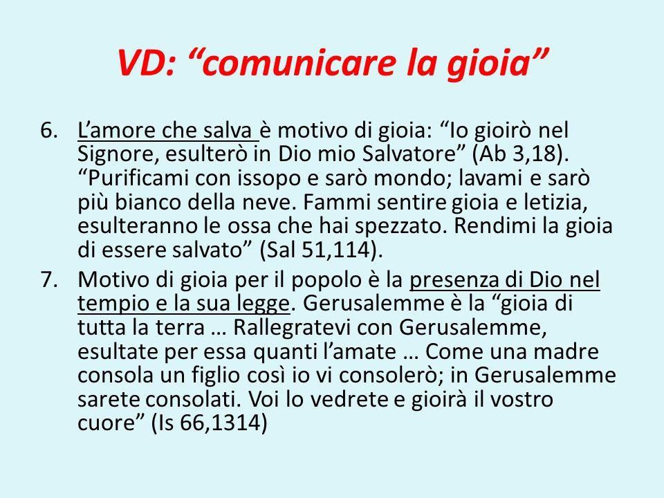VD: comunicare la gioia
