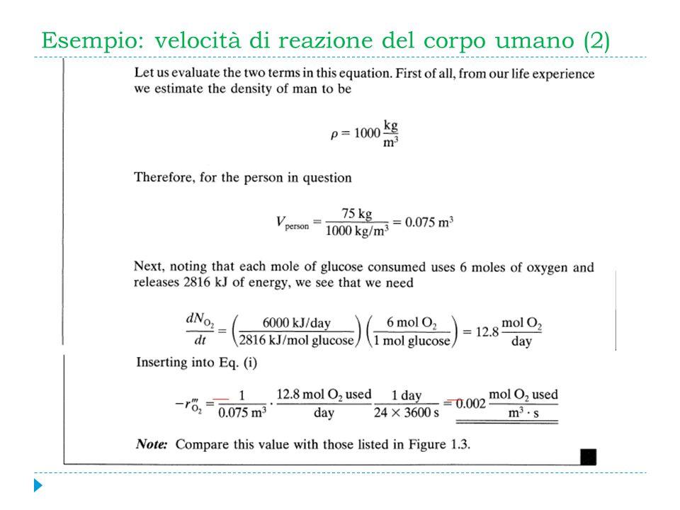 Esempio: velocità di reazione del corpo umano (2)