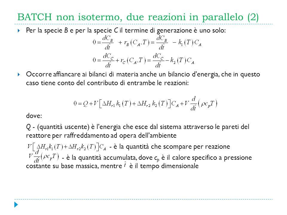 BATCH non isotermo, due reazioni in parallelo (2)