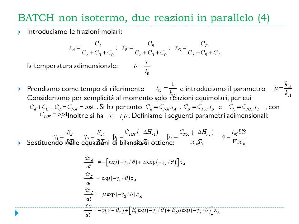 BATCH non isotermo, due reazioni in parallelo (4)