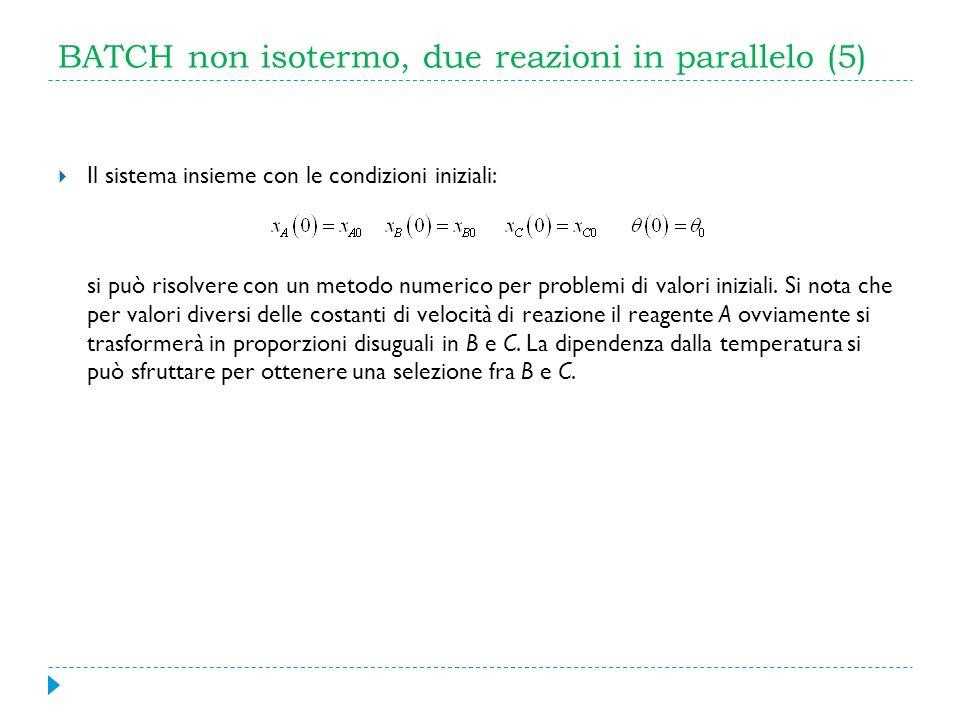 BATCH non isotermo, due reazioni in parallelo (5)