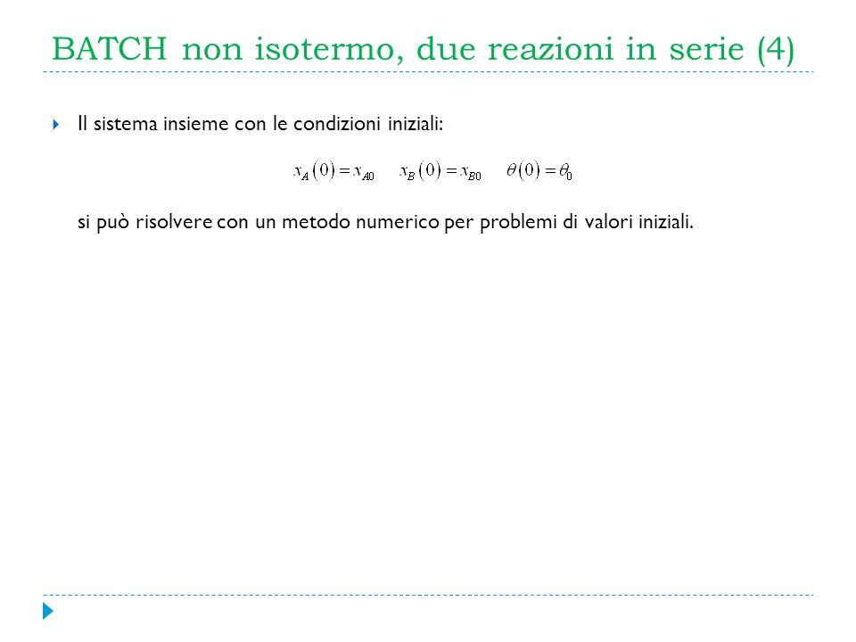 BATCH non isotermo, due reazioni in serie (4)