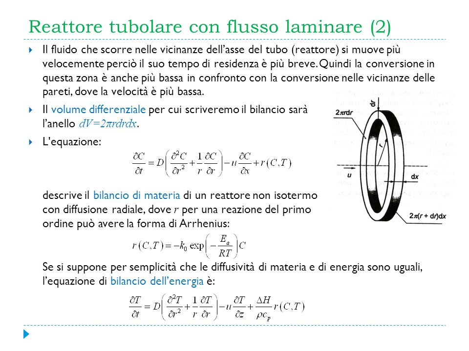 Reattore tubolare con flusso laminare (2)