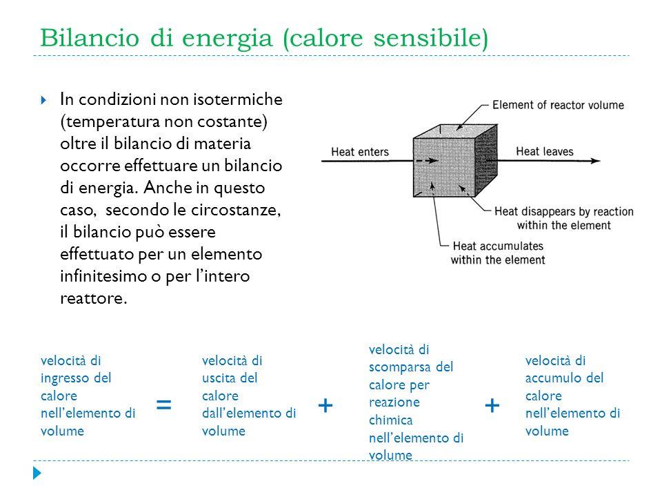 Bilancio di energia (calore sensibile)