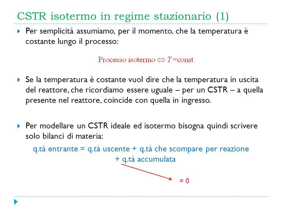 CSTR isotermo in regime stazionario (1)