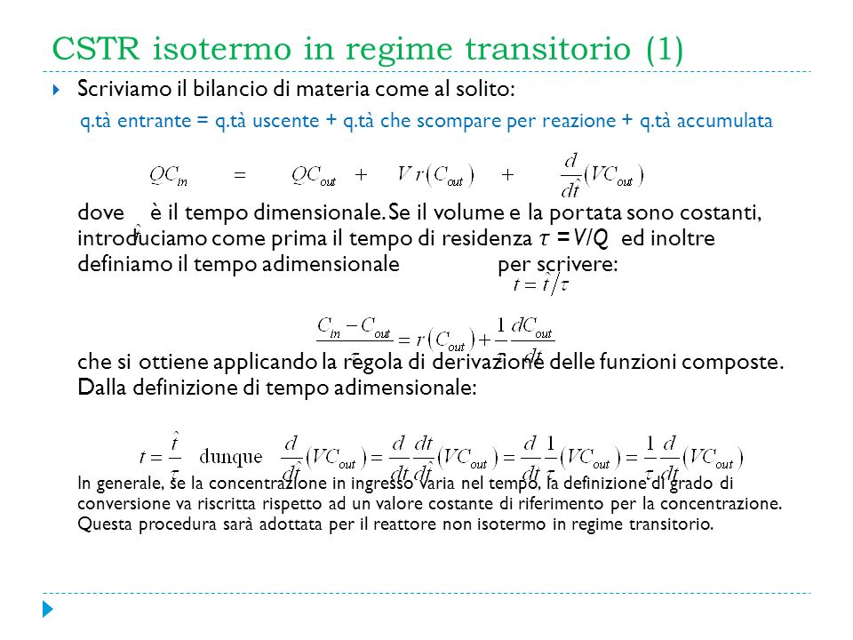 CSTR isotermo in regime transitorio (1)