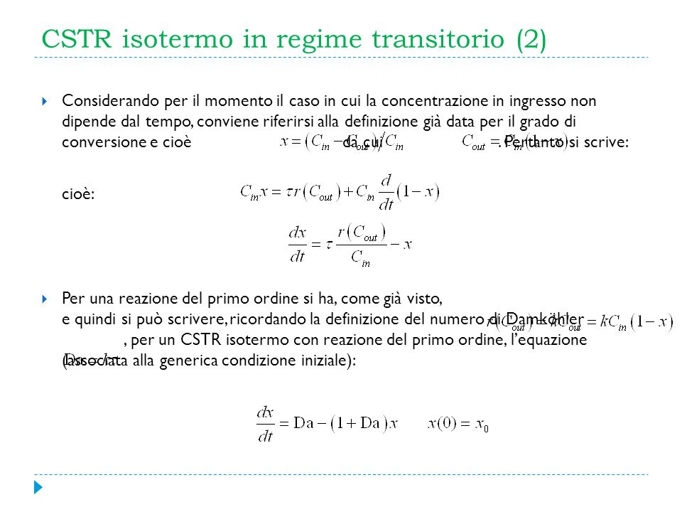 CSTR isotermo in regime transitorio (2)
