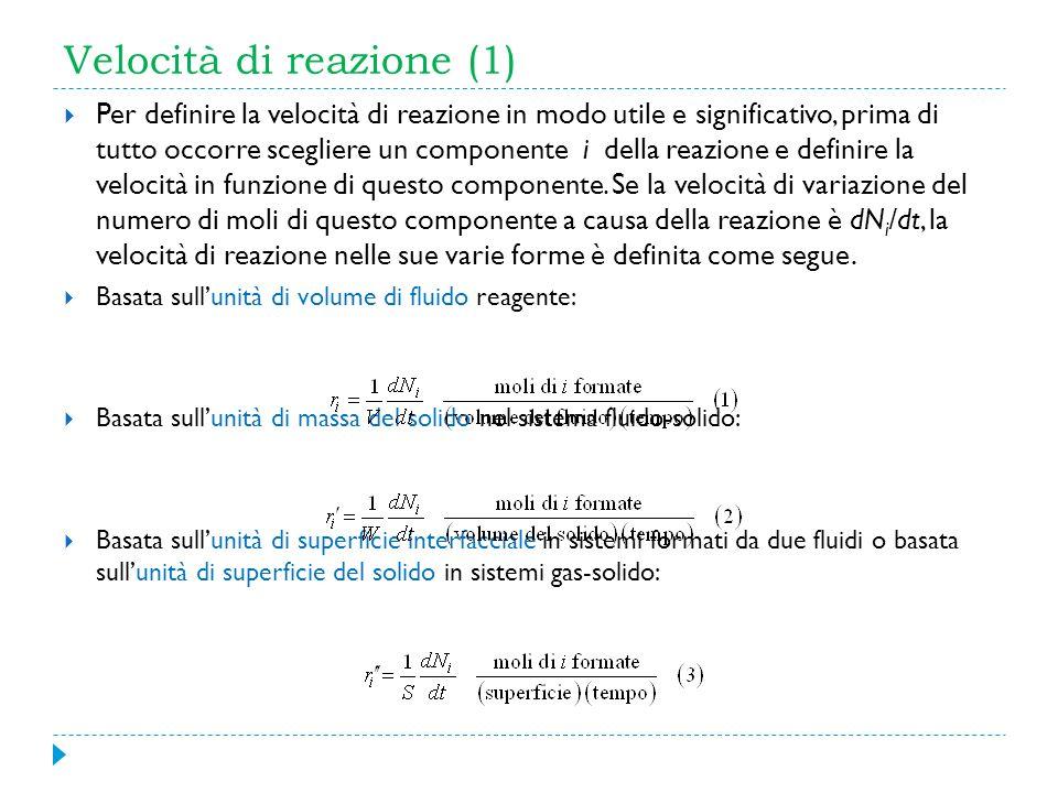 Velocità di reazione (1)