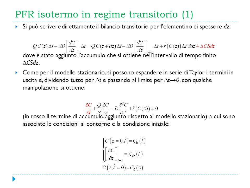 PFR isotermo in regime transitorio (1)