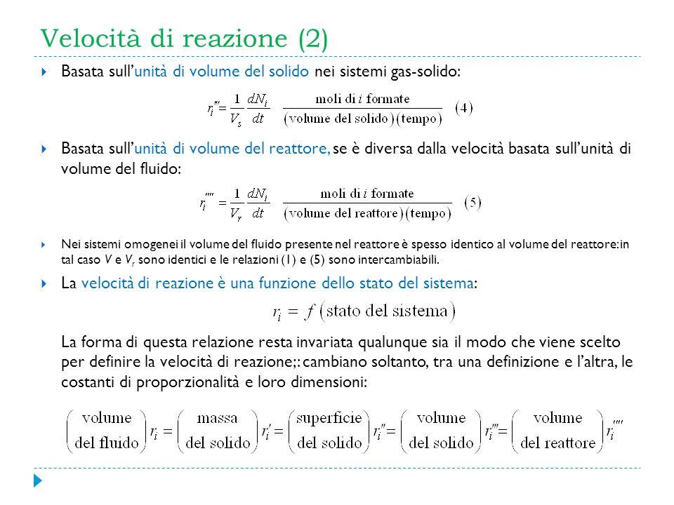 Velocità di reazione (2)
