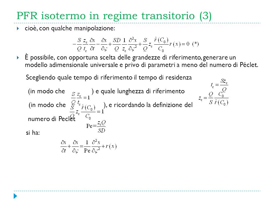 PFR isotermo in regime transitorio (3)
